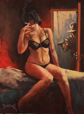 Pulp Magazines Painting - Those Things Will Kill You by Tom Shropshire
