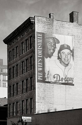 Baseball Mural Photograph - Those Were The Days by Steven Ainsworth