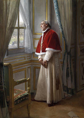 Catholic For Sale Painting - Thoughtful Cardinal by Jose Frappa