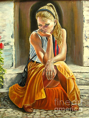 Thoughtfully Painting - Thoughtfully  by Osi