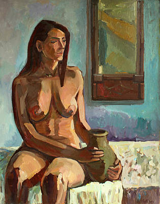 Painting - Thoughts At The Mirror by Juliya Zhukova