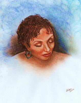 Art Print featuring the mixed media Thoughts Of You by Alga Washington