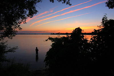 Photograph - Thousand Islands Fishing At Sunset by Anne Barkley