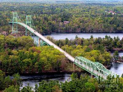 Photograph - Thousand Islands International Bridge by Olivier Le Queinec