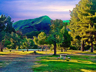 Photograph - Thousand Trails Soledad Canyon Acton California Mountains by Bob and Nadine Johnston