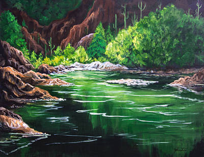 Painting - Thousand Trails Verde River Arizona by Bob and Nadine Johnston