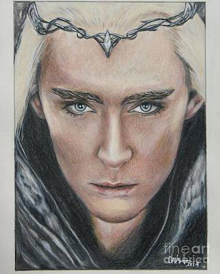 Drawing - Thranduil / Lee Pace by Christine Jepsen
