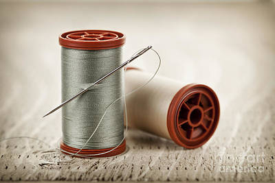 Thread And Needle Art Print