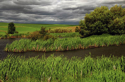 Grey Clouds Photograph - Threatening Clouds And Storm, Palouse by Michel Hersen