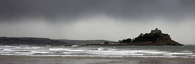 Photograph - Threatening Rain Clouds Over St Michaels Mount by Tony Mills
