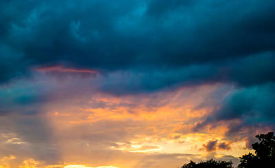 Threatening Skies At Sunset Art Print by Optical Playground By MP Ray