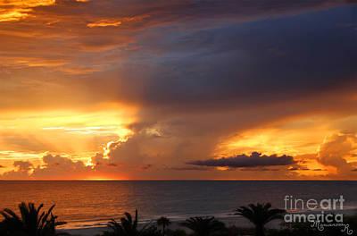 Threatening Sunset Art Print by Mariarosa Rockefeller