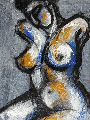 Female Painting - Three Abstracted Beauties - The Third by Carmen Tyrrell
