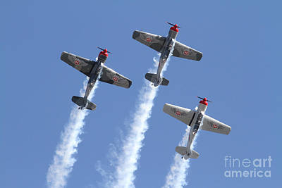 Photograph - Three Aerobatic Aircraft by Kevin McCarthy
