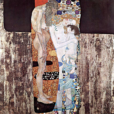 Three Ages Of Woman Art Print by Gustive Klimt