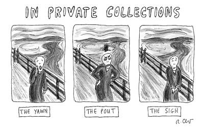 Scream Drawing - Three Alternate Versions Of Edward Munch's by Roz Chast