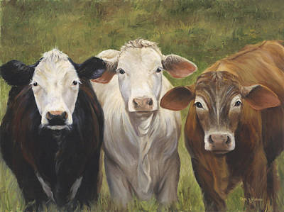 Cow Art Painting - Three Amigos by Cheri Wollenberg