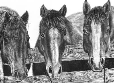Three Amigos Art Print by Glen Powell