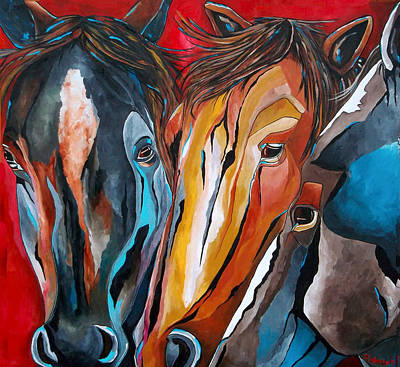 Three Amigos Art Print by Patti Schermerhorn
