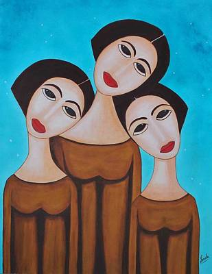 Three Angels Art Print