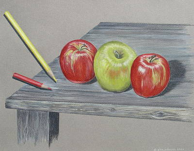 Painting - Three Apples by Gina Gahagan
