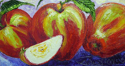 Three Apples Print by Paris Wyatt Llanso