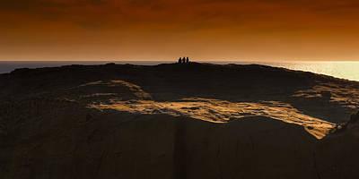 Photograph - Three At Sunset by Thomas Hall