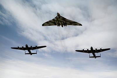 Photograph - Three Avro Bombers by Gary Eason