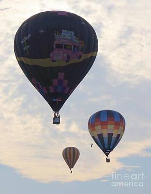 Photograph - Three Balloons by Rachel Munoz Striggow