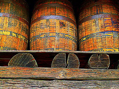 Photograph - Three Barrels by Randall Weidner
