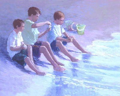 Three Beach Boys Art Print by J Reifsnyder