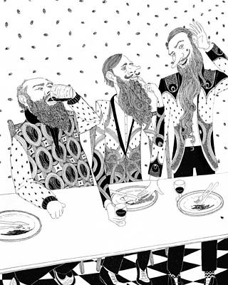 Three Bearded Men Original by Rohan Daniel Eason