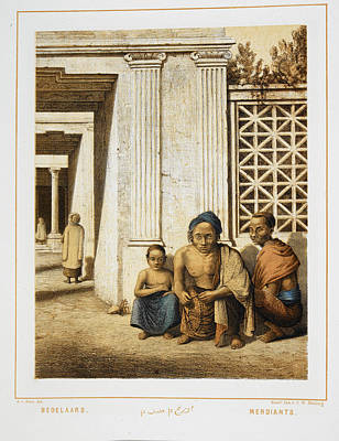 Three Beggars. Indonesian People Print by British Library