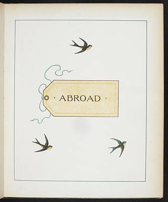 Abroad Photograph - Three Birds And A Luggage Label by British Library
