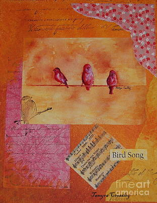 Painting - Three Birds by Tamyra Crossley