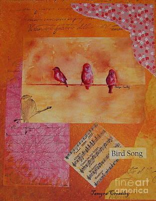 Painting - Three Birds by Tamyra Crossley