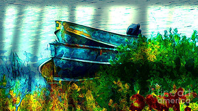 Digital Art - Three Boats In Killarney by Claire Bull