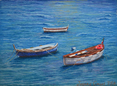 Painting - Three Boats by Joanne Grant