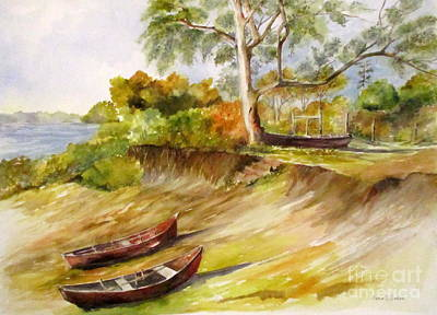 Painting - Three Boats by Madie Horne