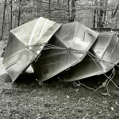 Photograph - Three Boats Waiting by Patricia Januszkiewicz