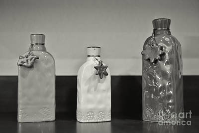 Photograph - Three Bottles by Olga Hamilton
