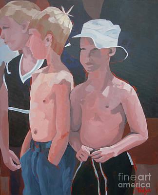 Three Boys Art Print
