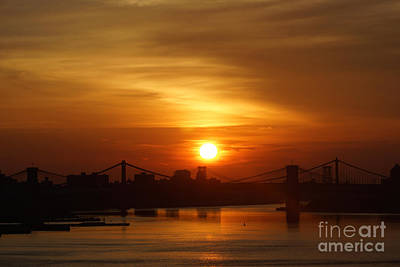 Three Bridges At Sunrise Art Print