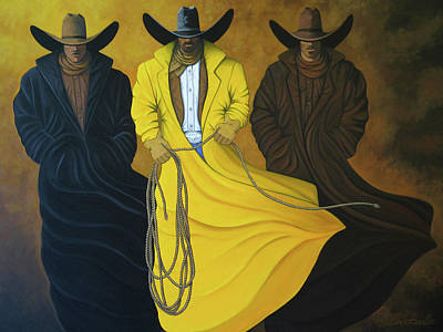 Contemporary Cowboy Painting - Three Brothers by Lance Headlee