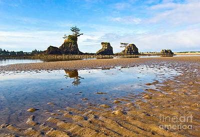 Three Brothers Rock Formation Near The Oregon Coast Art Print