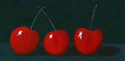 Three Cherries Art Print by Karyn Robinson