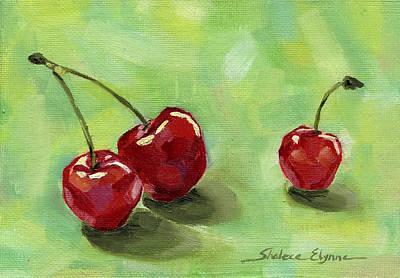 Three Cherries Print by Shalece Elynne