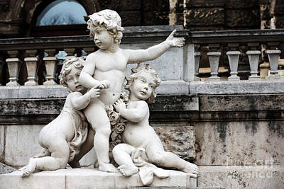 Photograph - Three Cherubs by John Rizzuto