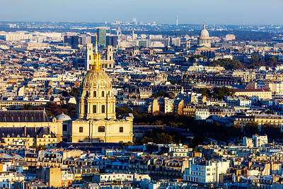 Paris Skyline Royalty-Free and Rights-Managed Images - Three Church Tops by Kirk Strickland
