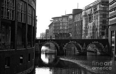 Photograph - Three Circles On The Canal Mono by John Rizzuto